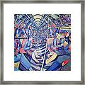 Subway Nyc, 1994 Oil On Canvas Framed Print
