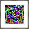 Sudoku Connections Spherize Framed Print