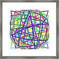Sudoku Connections White Spherize Framed Print