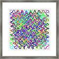Sudoku Connections White Wave Framed Print