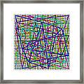 Sudoku Connections White Weave Framed Print