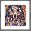 Sugar Skull Angel Heart' Framed Print