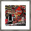 Sumi-e Styled Coca Cola Signs Framed Print