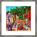 Summer Cafes Framed Print