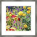 Summer Flower Garden Poster Print Framed Print