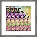 Sun Showers On Flowers Framed Print