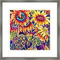 Sunflower Garden Framed Print by Ann  Nicholson