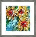 Sunflower Study Painting Framed Print