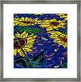 Sunflower Tiled Oil Painting Framed Print