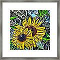 Sunflower Under The Gables Too Framed Print