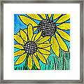 Sunflowers For Fun Framed Print