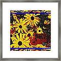 Sunflowers In The Park Framed Print by Lewanda Laboy