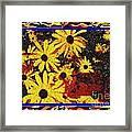 Sunflowers In The Park Framed Print