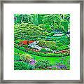 Sunken Garden In Butchart Gardens Near Victoria-british Columbia Framed Print