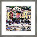 Sunny Portofino - Italy Framed Print