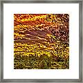 Sunset Navajo Tribal Park Canyon De Chelly Framed Print