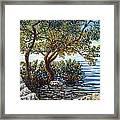 Sunset On Morada Bay Framed Print