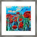 Sunset Poppies Framed Print
