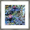 Sunspots On The Lilies Framed Print