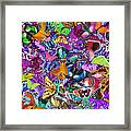 Super Rainbow Butterflies Framed Print