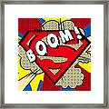 Superman Boom  Framed Print