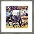 Supply Wagon Framed Print