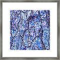 Surreal Patterned Bark In Blue Framed Print