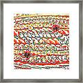 Sushi In Abstract Framed Print