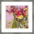 Sweet Peas With Cherries And Strawberries Framed Print
