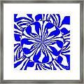Swirling Blue Zebra Kaleidoscope  Framed Print