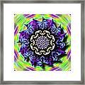 Swirling Crown Framed Print
