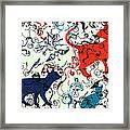 Swirls And Pussycats Framed Print