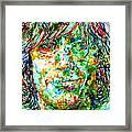 Syd Barrett - Watercolor Portrait Framed Print
