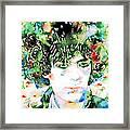 Syd Barrett Watercolor Portrait.1 Framed Print