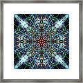 Symmetrical Silk Strands Framed Print