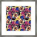 T J O D Tile Variations 14 Framed Print