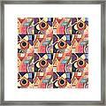 T J O D Tile Variations 19 Framed Print