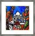 Taj Mahal Dancers Framed Print