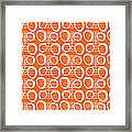 Tangerine Loop Framed Print