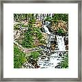 Tangle Falls Along Icefield Parkway In Alberta Framed Print