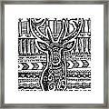 Tangled Deer Framed Print