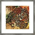 Tangled Lion Framed Print