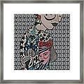 Tattoo Chic Grey Bubble Framed Print