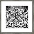 Tattoo Parlor Sign In Rough Neighborhood  Framed Print