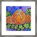 Tattoo Pumpkin Patch Framed Print