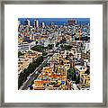 Tel Aviv Eagle Eye View Framed Print