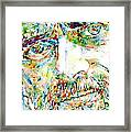 Terence Mckenna Watercolor Portrait.1 Framed Print