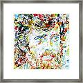 Terence Mckenna - Watercolor Portrait.3 Framed Print