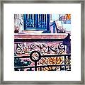 Terra Cotta And Iron Fence Framed Print