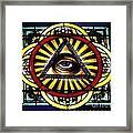 Eye Of Providence Texas Church Window Framed Print